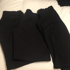 Pants - Set of 3 Black yoga pants size M